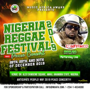 Rymzo to perform live at the Nigeria Reggae Festival 2019